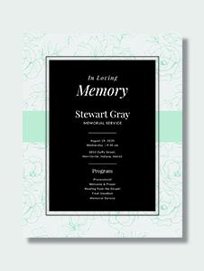 Simple Memorial Program Template