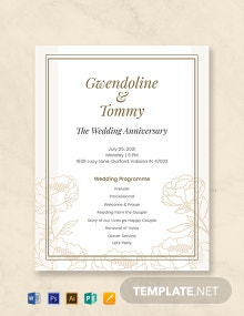 Free Wedding Anniversary Program Template