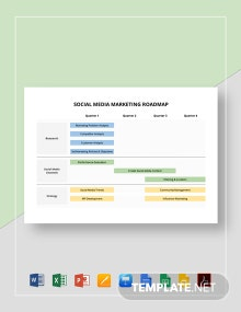 Social Media Marketing Roadmap Template