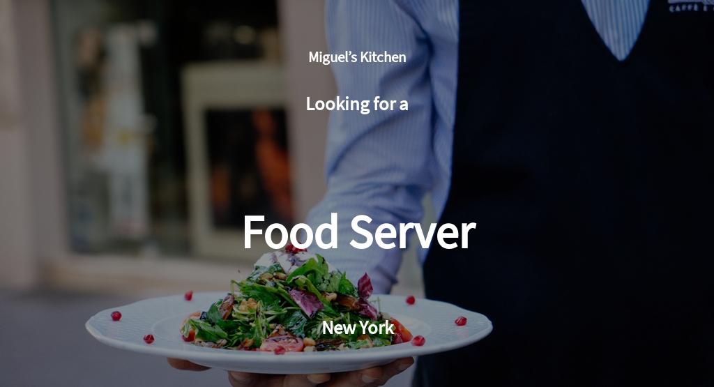 Food Server Job Ad/Description Template