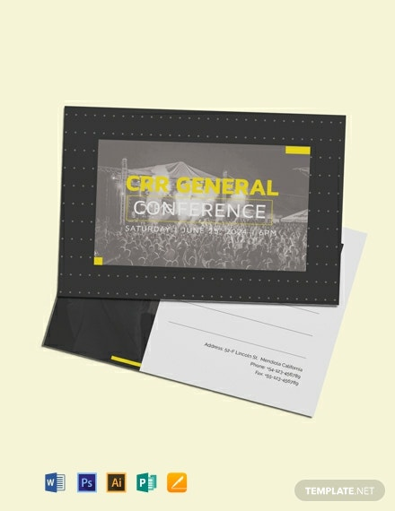 Free Event Postcard Template