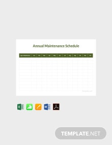 Free Annual Maintenance Schedule Template