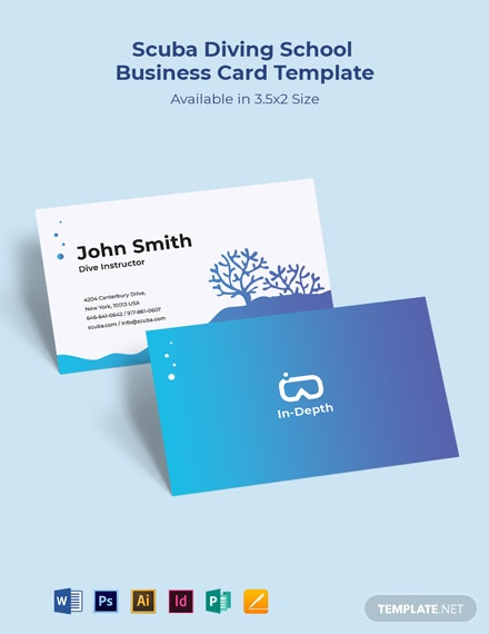 Scuba Diving School Business Card Template