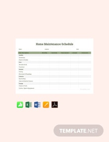 Free Home Maintenance Schedule Template