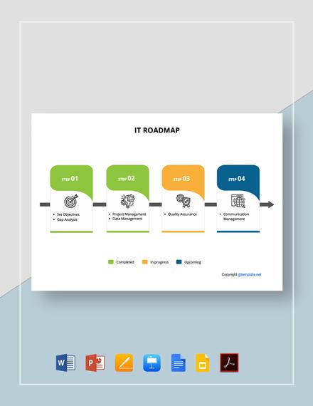 Free Simple IT Roadmap Template