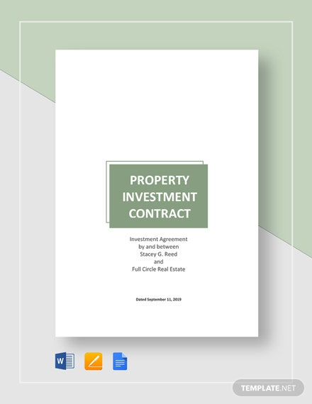Property Investment Contract Template