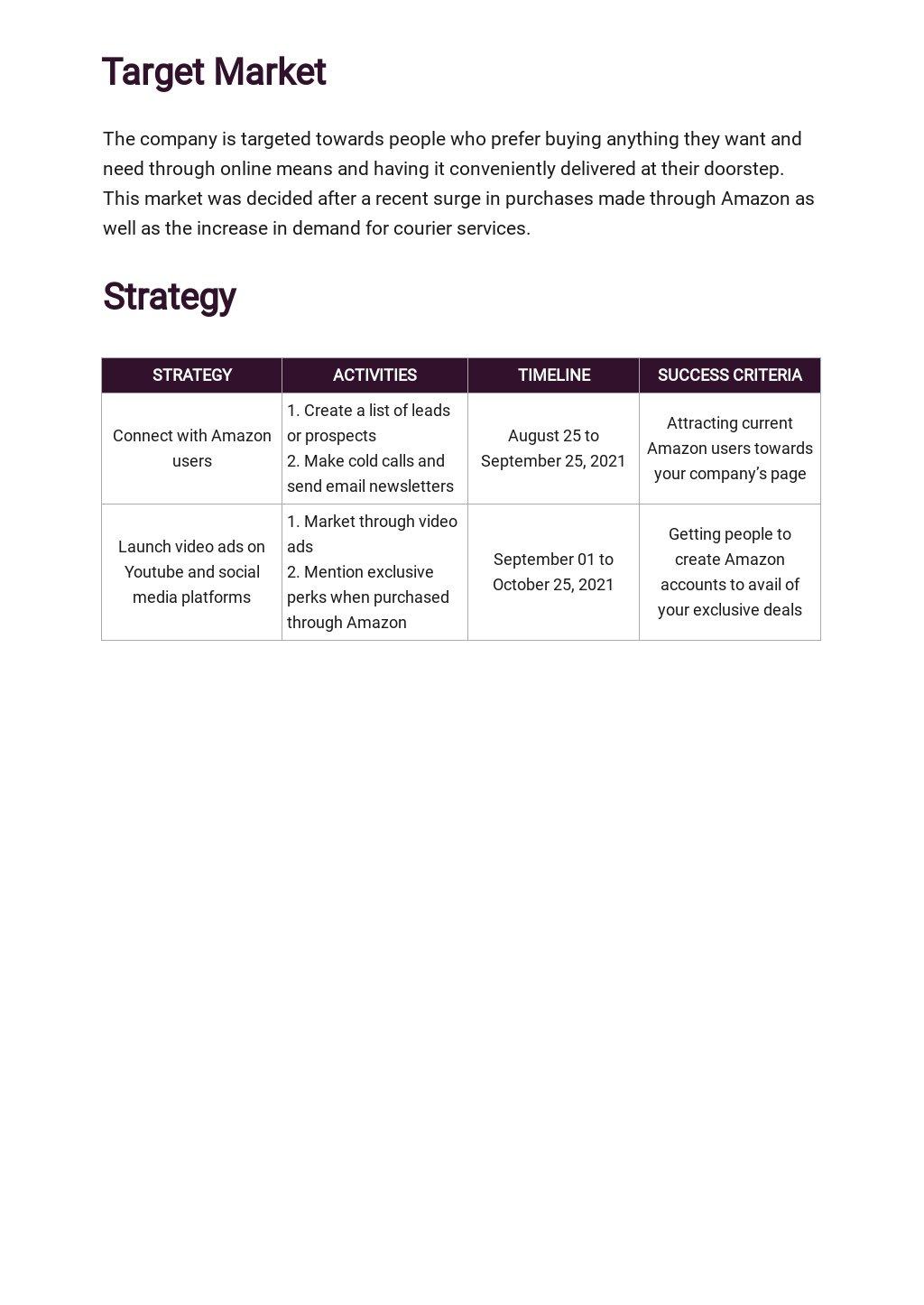 Amazon Store Marketing Plan Template 2.jpe