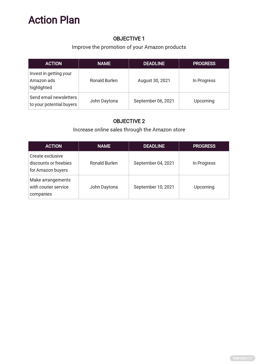 Amazon Store Marketing Plan Template 4.jpe