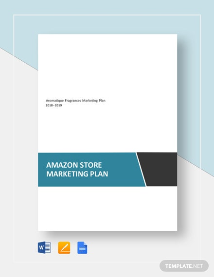 Amazon Store Marketing Plan Template