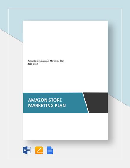Amazon Store Marketing Plan Template