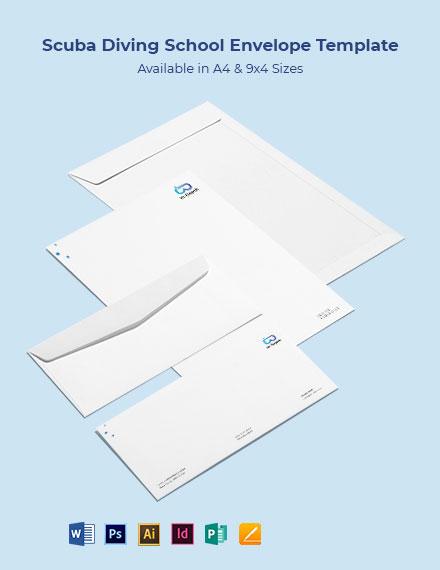 Scuba Diving School Envelope