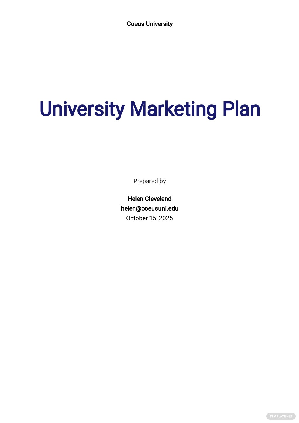 University Marketing Plan Template.jpe