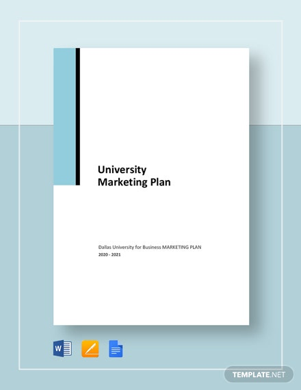 University Marketing Plan Template