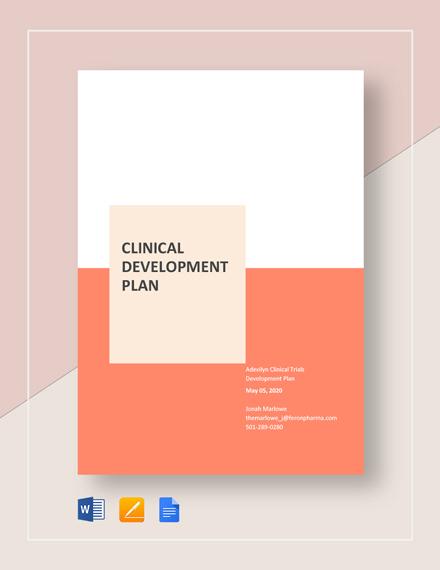 Clinical Development Plan Template
