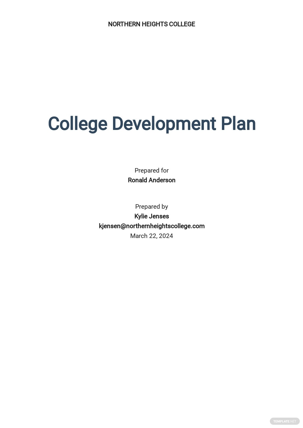 College Development Plan Template.jpe