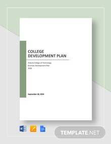 College Development Plan Template