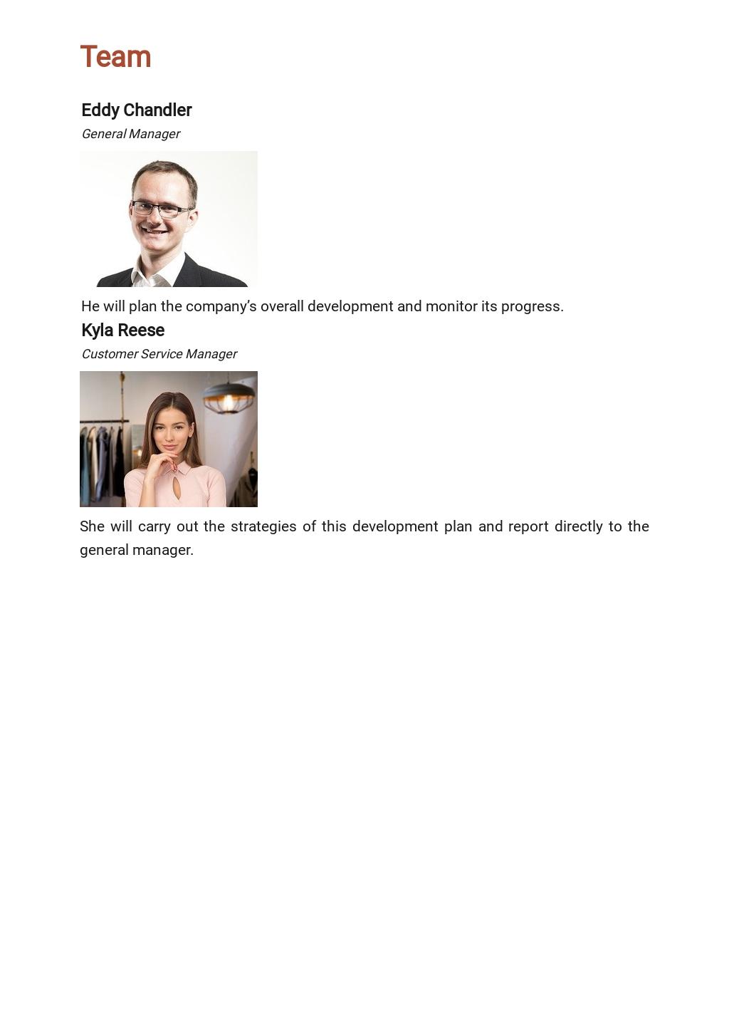 Customer Service Development Plan Template 3.jpe