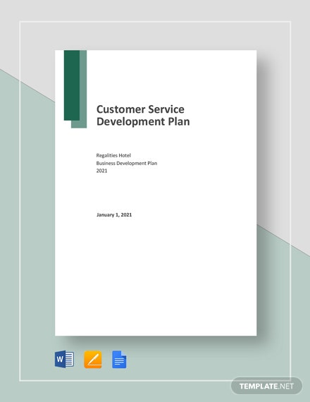 Customer Service Development Plan Template