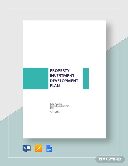 Property Investment Development Plan Template