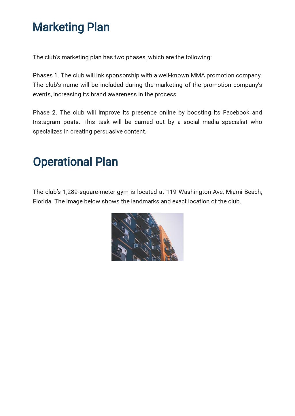 Sports Club Business Developement Plan Template 4.jpe