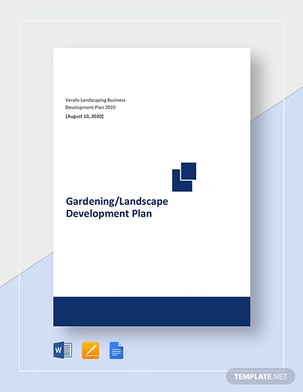 Gardening/Landscape Development Plan Template