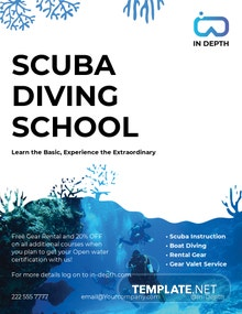 Scuba Diving School Flyer Template