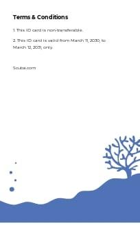 Scuba Diving School ID Card Template 1.jpe