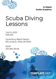 Scuba Diving School Invitation Template