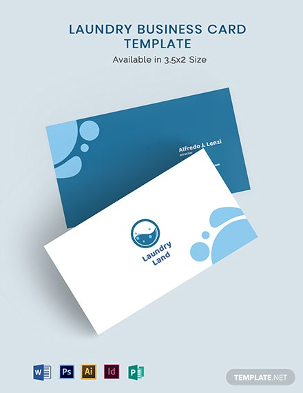 Laundry Business Card Template