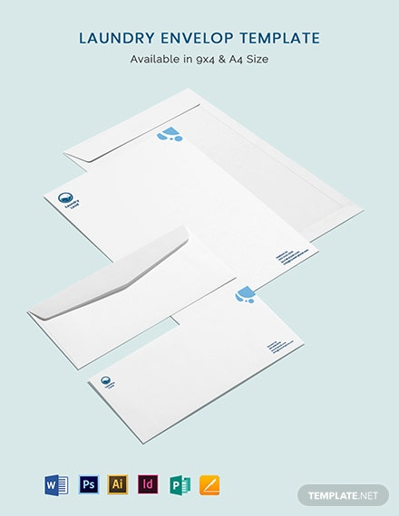 Laundry Envelope Template