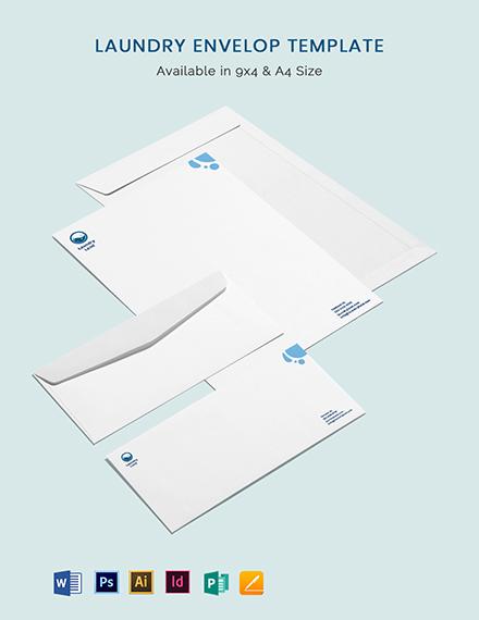 Laundry Envelope Template