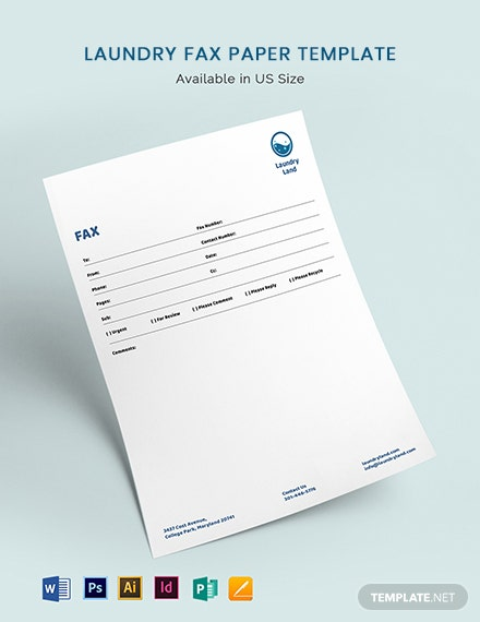 Laundry Fax Paper Template