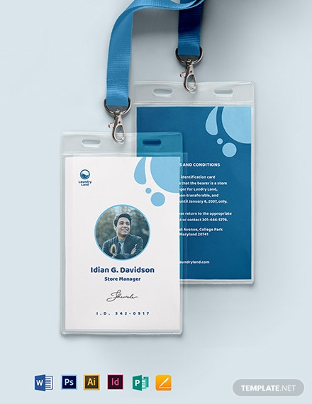 Laundry ID Card Template