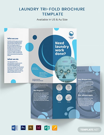 Laundry Tri-Fold Brochure Template