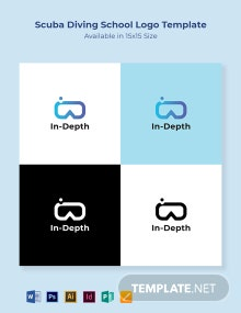 Scuba Diving School Logo Template