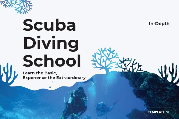 Scuba Diving School Postcard Template.jpe