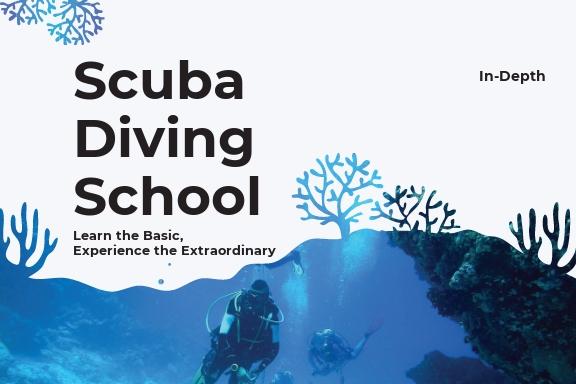 Scuba Diving School Postcard Template