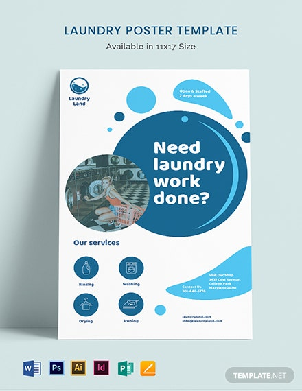 Laundry Poster Template