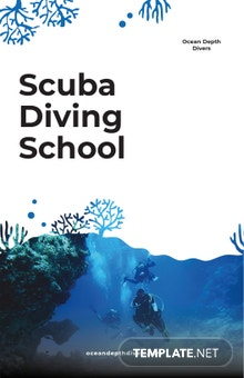 Scuba Diving School Poster Template