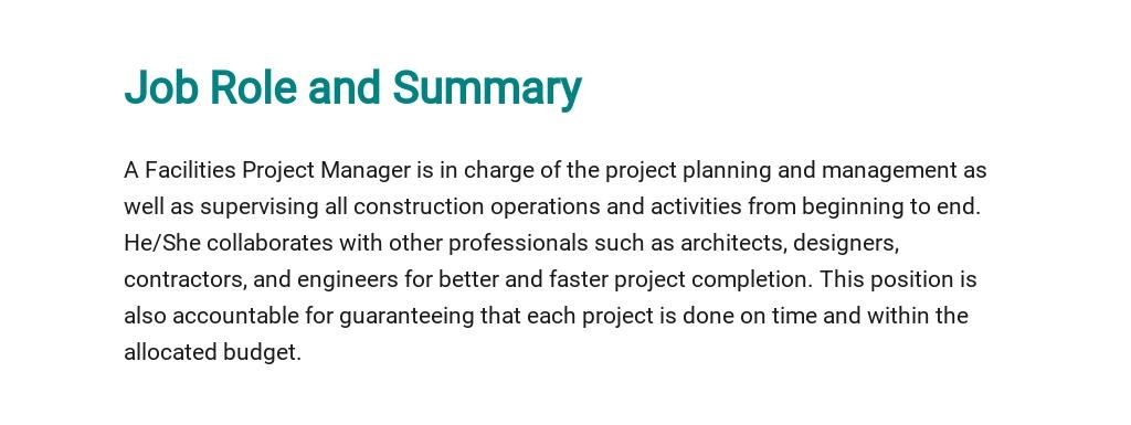 Free Facilities Project Manager Job Description Template 2.jpe