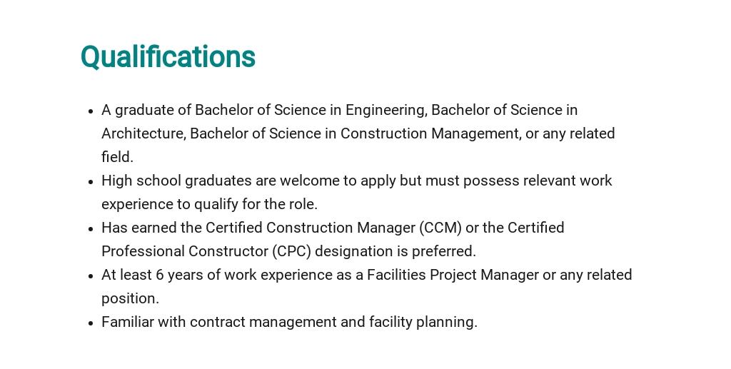 Free Facilities Project Manager Job Description Template 5.jpe