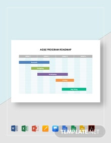Agile Program Roadmap Template