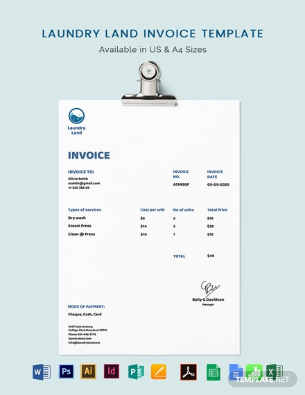 Laundry Invoice Template