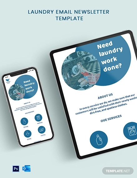 Laundry Email News Letter Template