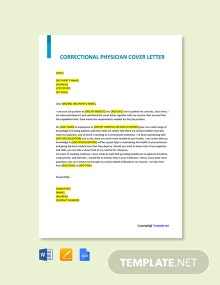 Free Correctional Physician Cover Letter Template