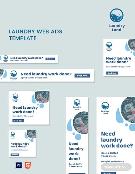 Laundry Web Ads Template