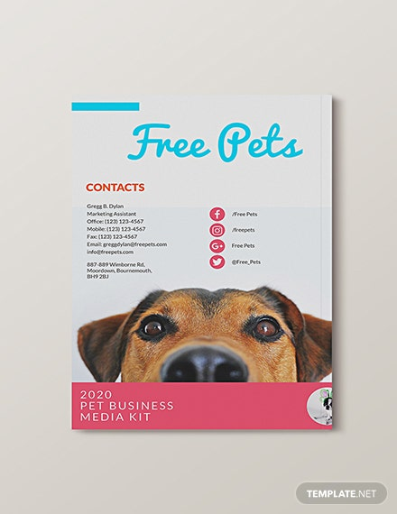 Editable Pet Business Media Kit Template