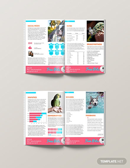 Pet Business Media Kit Template [Free PSD] - Illustrator, Word, Apple Pages, Publisher