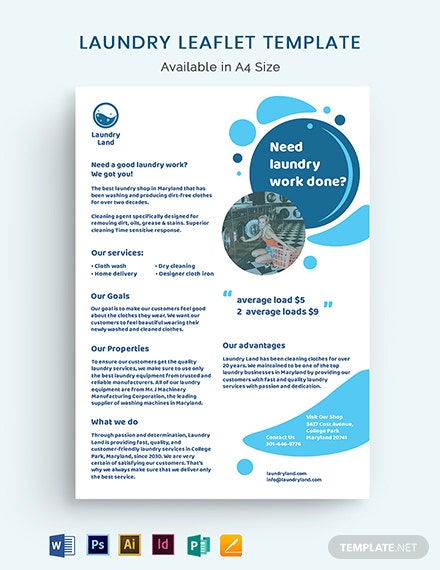 Laundry Leaflet Template
