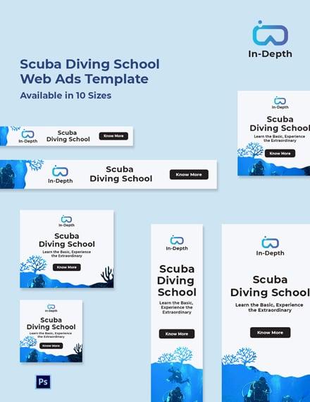 Scuba Diving School Web Ads Template